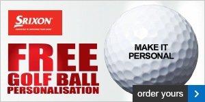 Srixon free ball personalisation - from £18.99